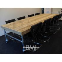 Vergadertafel Steigerhout H-frame