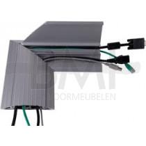 Vloer/Wandgoot aluminium